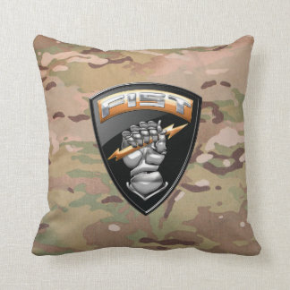 [300] Forward Observer (FIST) [Emblem] Throw Pillow