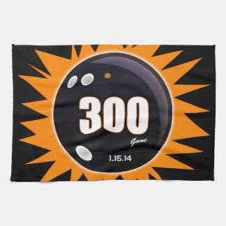 300 Game Orange & Black Hand Towels