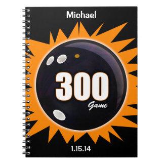 300 Game Orange & Black Notebook
