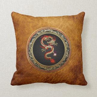 [300] Golden Chinese Dragon Fucanglong Throw Pillow