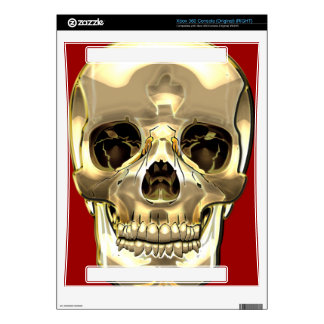 [300] Golden Human Skull Decals For Xbox 360