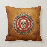 [300] Golden Skull Pillows