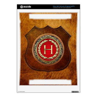 "[300] ""H"" Gold Vintage Monogram Skin For The Xbox 360"