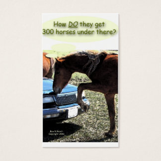 300 Horse Car Business Card