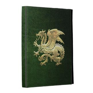 [300] Icelandic Dragon, Landvættir [Gold] iPad Folio Cover