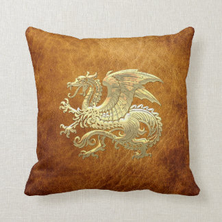 [300] Icelandic Dragon, Landvættir [Gold] Pillows