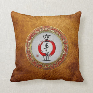 [300] Japanese calligraphy - Karate-do Throw Pillows