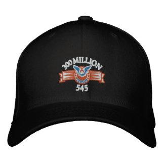 300 millones contra el gorra negro 545 gorras bordadas