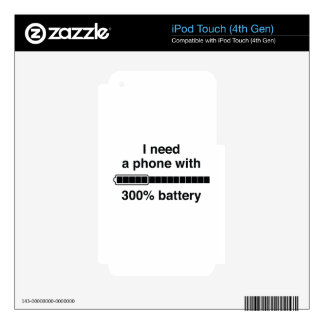 300 Percent Battery Decal For iPod Touch 4G
