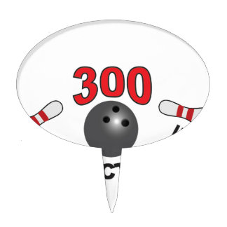 300 perfect game b cake topper