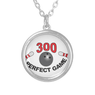 300 perfect game b silver plated necklace