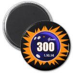 300 Perfect Game Orange & Blue 2 Inch Round Magnet