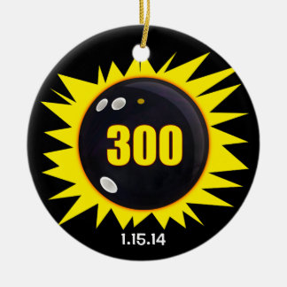 300 Perfect Game Yellow Ceramic Ornament