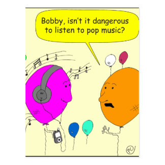 300 pop music cartoon postcard