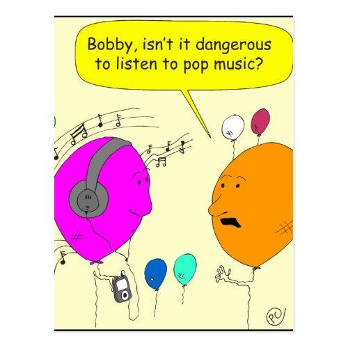 300 pop music cartoon postcard