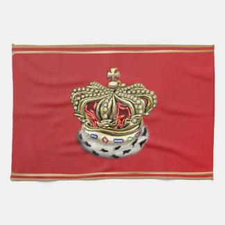 [300] Prince [King] Royal Crown [Fur+Gold][Red] Kitchen Towel