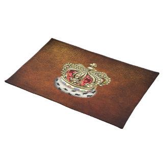 [300] Prince [King] Royal Crown [Fur+Gold][Red] Placemat