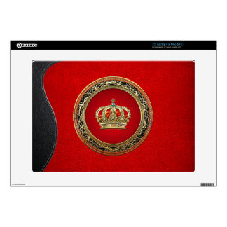"[300] Prince-Princess King-Queen Crown [Belg.Gold] Decal For 15"" Laptop"