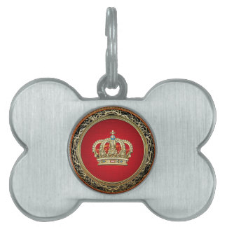 [300] Prince-Princess King-Queen Crown [Belg.Gold] Pet Tag