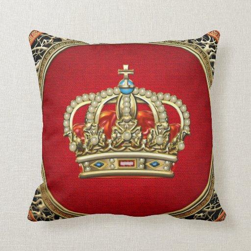 Gold Crown Throw Pillow : Crown Royal Pillows - Crown Royal Throw Pillows Zazzle