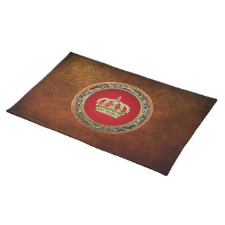 [300] Prince-Princess King-Queen Crown [Belg.Gold] Placemat