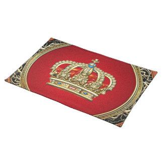 [300] Prince-Princess King-Queen Crown [Belg.Gold] Place Mat