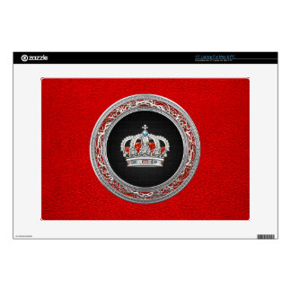 "[300] Prince-Princess King-Queen Crown [Silver] 15"" Laptop Decal"