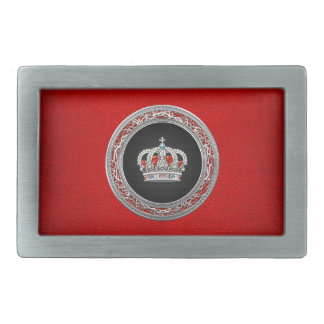 [300] Prince-Princess King-Queen Crown [Silver] Belt Buckle