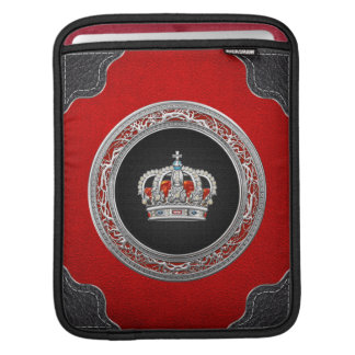 [300] Prince-Princess King-Queen Crown [Silver] iPad Sleeve