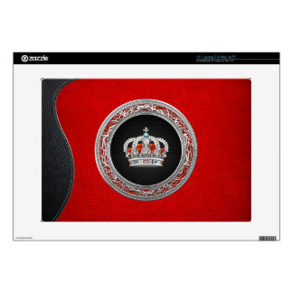 [300] Prince-Princess King-Queen Crown [Silver] Laptop Skin