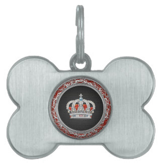 [300] Prince-Princess King-Queen Crown [Silver] Pet Tag
