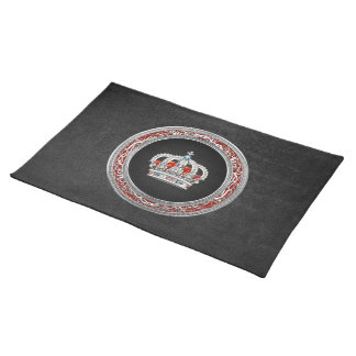 [300] Prince-Princess King-Queen Crown [Silver] Placemat