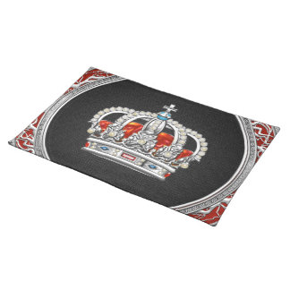 [300] Prince-Princess King-Queen Crown [Silver] Placemats