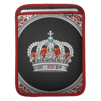 [300] Prince-Princess King-Queen Crown [Silver] Sleeve For iPads