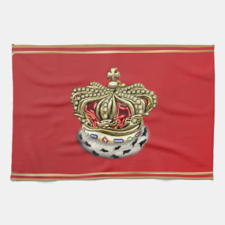 [300] Príncipe [rey] corona real [piel+Oro] [rojo] Toallas
