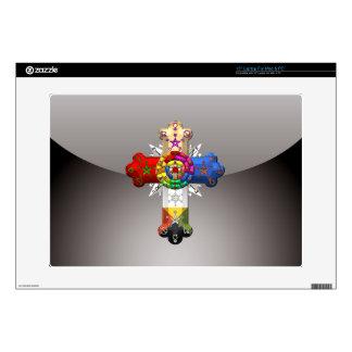 "[300] Rosy Cross (Rose Croix) 15"" Laptop Decals"