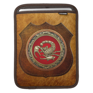 [300] Sacred Golden Scorpion on Red iPad Sleeve
