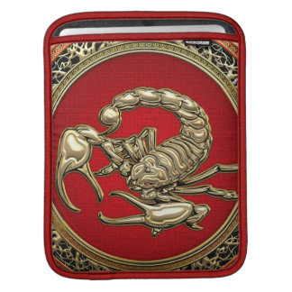 [300] Sacred Golden Scorpion on Red Sleeve For iPads