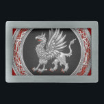 "[300] Sacred Silver Griffin Belt Buckle<br><div class=""desc"">Introducing ""Treasure Trove 3D"" Collection by C.7 Design Studio. Here you will find customizable products, featuring Sacred Silver Griffin. The griffin, griffon, or gryphon (Greek: γρύφων, gr&#253;phōn, or γρύπων, gr&#253;pōn, early form γρύψ, gr&#253;ps; Latin: gryphus) is a legendary creature with the body, tail, and back legs of a lion; the...</div>"