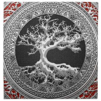 [300] Treasure Trove: Celtic Tree of Life [Silver] Napkin