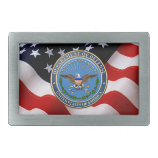 [300] U.S. Department of Defense (DOD) Emblem [3D] Rectangular Belt Buckle