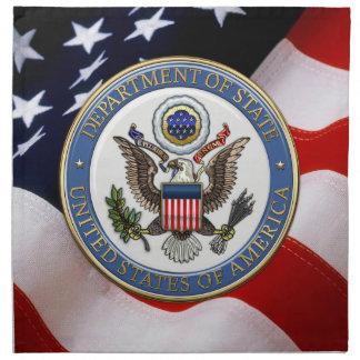 [300] U.S. Department of State (DoS) Emblem [3D] Cloth Napkin