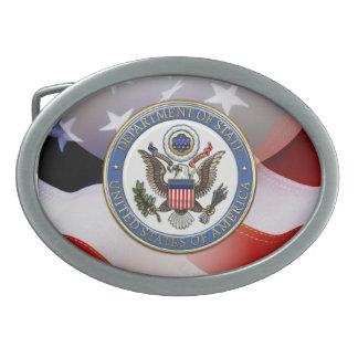 [300] U.S. Department of State (DoS) Emblem [3D] Oval Belt Buckle
