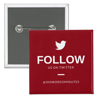 300 Words, 2 Minutes Square Twitter Button