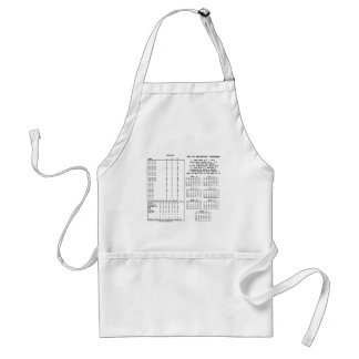 300 Year Perpetual Calendar (Day Of The Week) Adult Apron