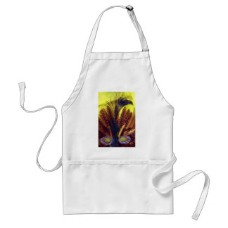 300dpi MASK face FEATHERS peacock.jpg Adult Apron