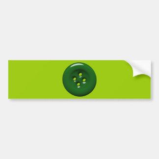 301_green-button DARK FOREST GREEN BUTTON GRAPHIC Bumper Sticker