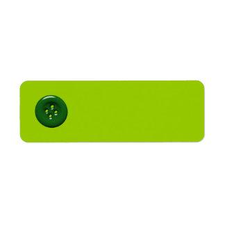 301_green-button DARK FOREST GREEN BUTTON GRAPHIC Custom Return Address Labels