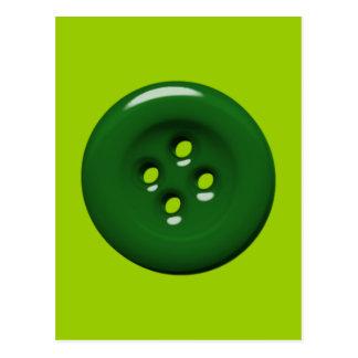 301_green-button DARK FOREST GREEN BUTTON GRAPHIC Postcard