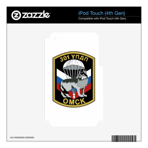 301o régimen del entrenamiento del paracaídas de l iPod touch 4G calcomanías
